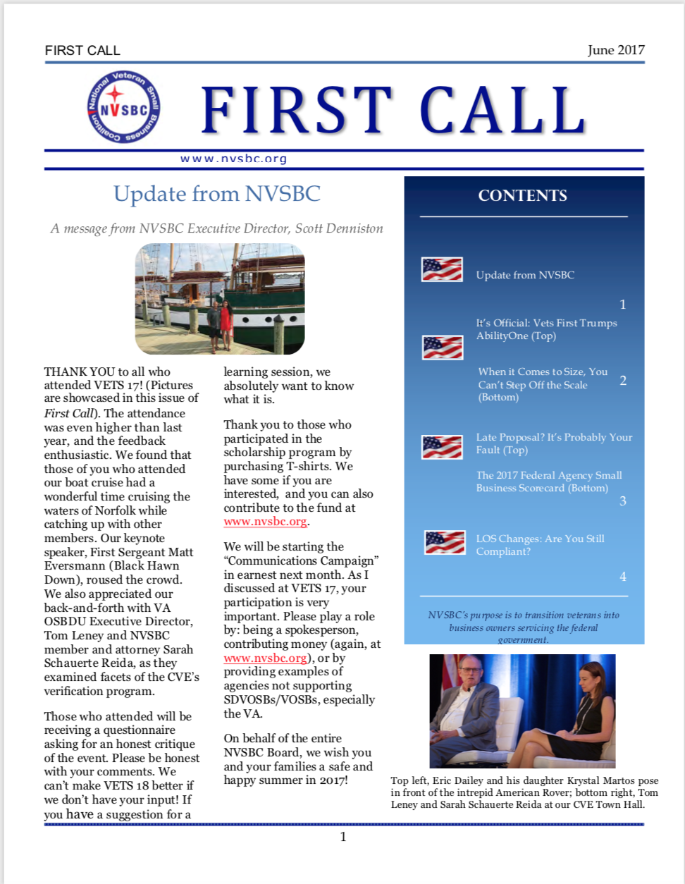 First Call – June 2017
