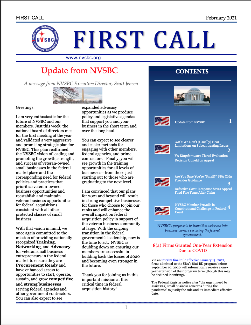 First Call – February 2021